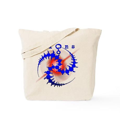 Starburst Crop Circle Blue Tote Bag