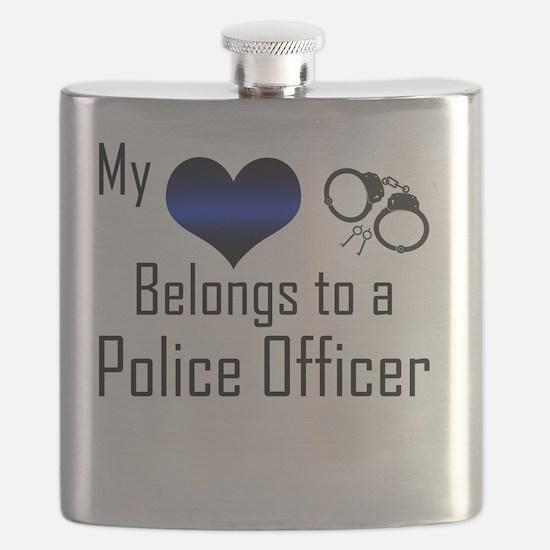My Heart Belongs to a Police Officer Flask