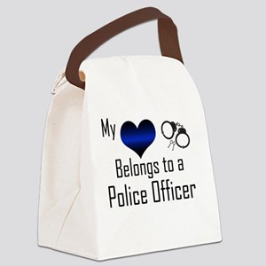 My Heart Belongs to a Police Offi Canvas Lunch Bag