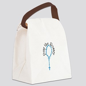 Pray The Rosary Canvas Lunch Bag