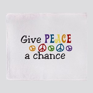 Give peace Throw Blanket