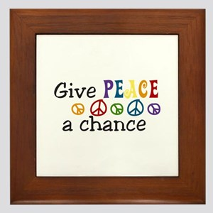 Give peace Framed Tile