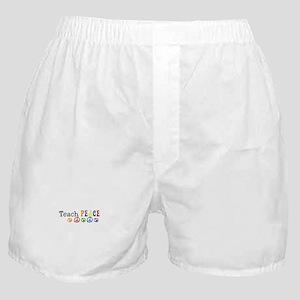 Teach Peace Boxer Shorts