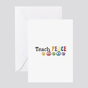 Peace symbol greeting cards cafepress teach peace greeting cards m4hsunfo Images