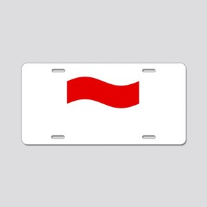 Waving Monaco Flag Aluminum License Plate