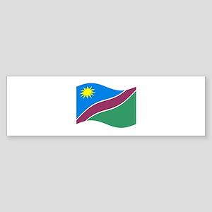 Waving Namibia Flag Bumper Sticker