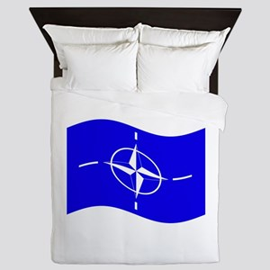 Waving Nato Flag Queen Duvet