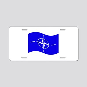 Waving Nato Flag Aluminum License Plate