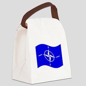 Waving Nato Flag Canvas Lunch Bag