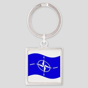 Waving Nato Flag Keychains
