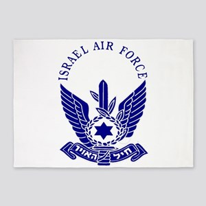 Israel Air Force Blue 5'x7'area Rug