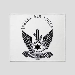 IAF Black Throw Blanket