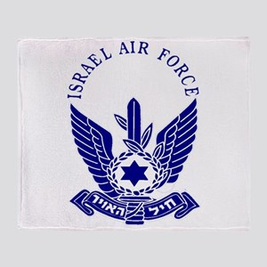 Israel Air Force Blue Throw Blanket