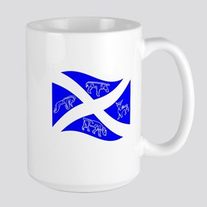 Waving Pictish Scotland Flag #1 Mugs