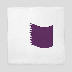 Waving Qatar Flag Queen Duvet