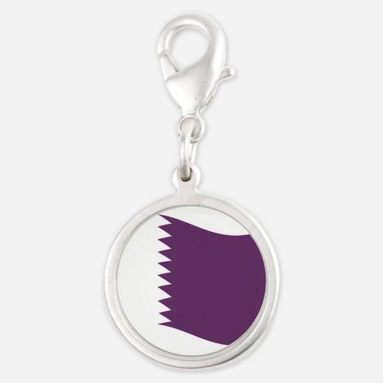 Waving Qatar Flag Charms