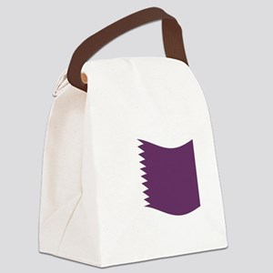 Waving Qatar Flag Canvas Lunch Bag