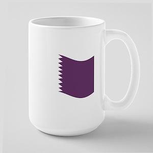 Waving Qatar Flag Mugs