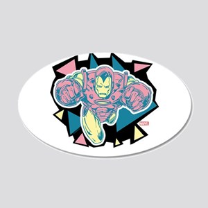Iron Man Triangles 20x12 Oval Wall Decal