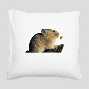 Trumpeting the Sunrise Square Canvas Pillow
