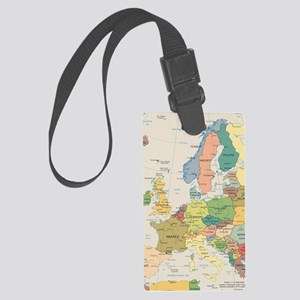 Europe Map Large Luggage Tag