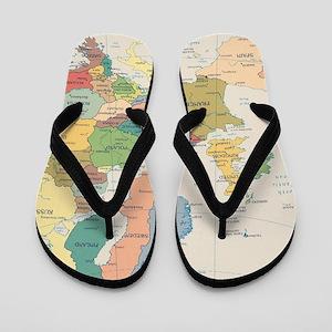 Europe Map Flip Flops
