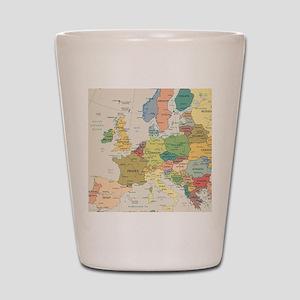 Europe Map Shot Glass