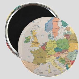 Europe Map Magnet