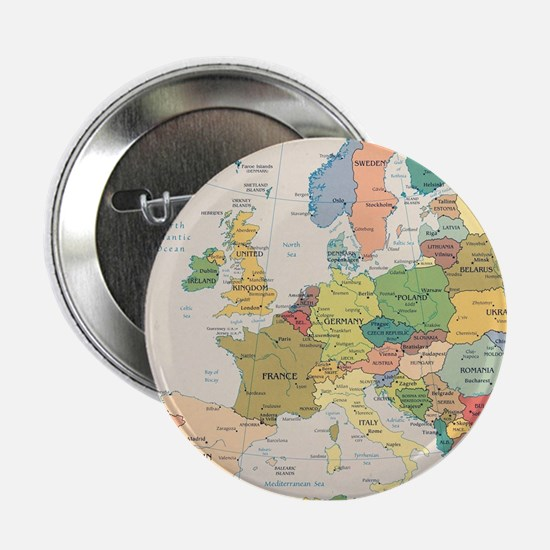 "Europe Map 2.25"" Button"