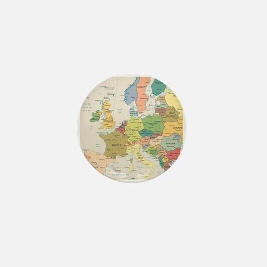 Europe Map Mini Button