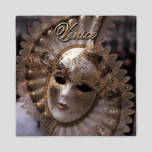 Venetian carnival mask Queen Duvet