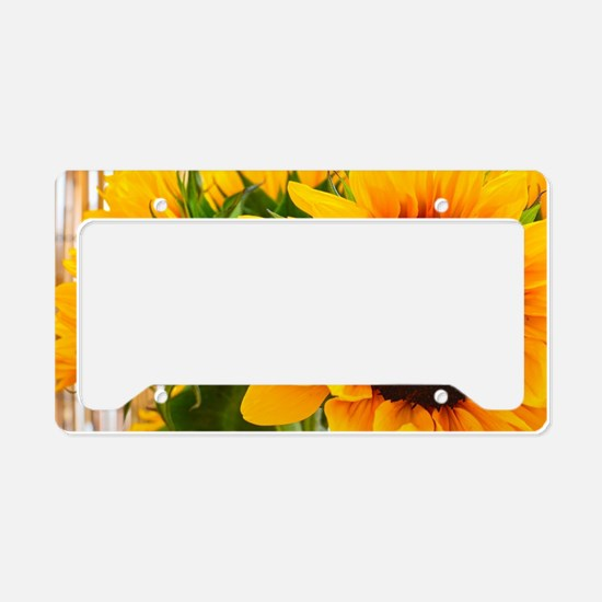 Sunflower III License Plate Holder