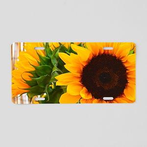 Sunflower III Aluminum License Plate