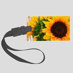 Sunflower III Large Luggage Tag
