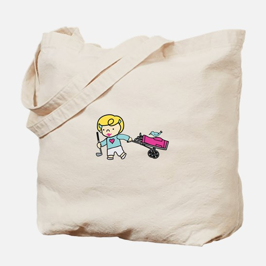 Golfer Girl Tote Bag