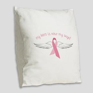 My Angel Burlap Throw Pillow