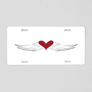 Angel Heart Aluminum License Plate