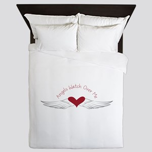 Angels Watch Queen Duvet