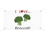 I Love Broccoli Banner