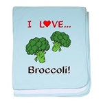 I Love Broccoli baby blanket