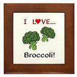 I Love Broccoli Framed Tile