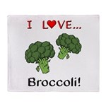 I Love Broccoli Throw Blanket