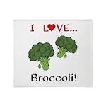 I Love Broccoli Throw Blanket
