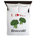 I Love Broccoli Queen Duvet
