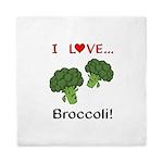 I Love Broccoli Queen Duvet