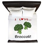 I Love Broccoli King Duvet