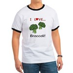 I Love Broccoli Ringer T