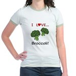 I Love Broccoli Jr. Ringer T-Shirt