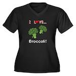 I Love Brocc Women's Plus Size V-Neck Dark T-Shirt