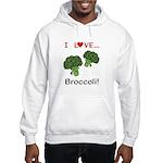 I Love Broccoli Hooded Sweatshirt